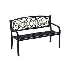 Living Accents Park Bench Cast Iron Patio Furniture Lawn Chair Garden Love Seat #LivingAccents #Cottage