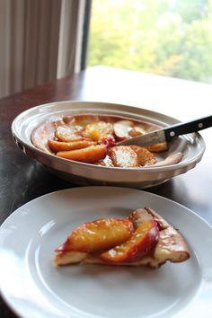 ... Bourbon Peaches http://sweetstacks.com/puffy-pancake-roasted-bourbon