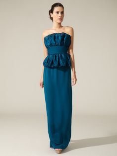 Crinkled Silk Organza Gown by Notte By Marchesa on Gilt.com