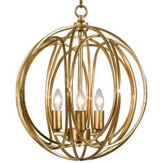 Majorelle Hollywood Regency Gold Ring Orb Pendant 13.75D ($298) ❤ liked on Polyvore featuring home, lighting, ceiling lights, hollywood regency lighting, orb lighting, geometric lamp, geometric lighting and sphere lighting
