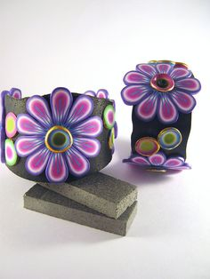New Flower Bangles by DebbieCrothers, via Flickr
