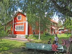 Carl Larsson's house, as viewed from the lake.