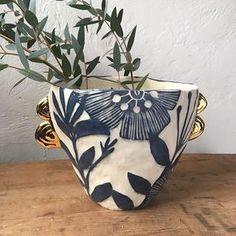 #vase #sgraffito #pottery #ceramics