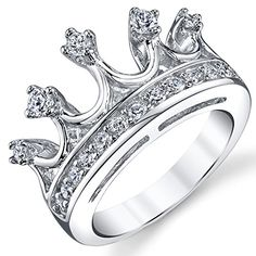 925 Sterling Silver Princess Crown Tiara Cubic Zirconia Ring Band Size 7 Metal Masters Co.  http://www.amazon.com/gp/product/B00MMPIE2W/ref=as_li_qf_sp_asin_il_tl?ie=UTF8&camp=1789&creative=9325&creativeASIN=B00MMPIE2W&linkCode=as2&tag=emilbeni-20&linkId=7U7W47ESC227JN5C