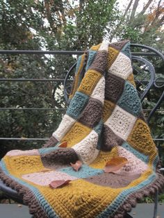 Crochet with Ricky Crochet Motif, Knit Crochet, Handicraft, Plaid Scarf, Hand Knitting, Diy And Crafts, Homemade, Quilts, Blanket