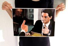 """Digitaldruck - Din A 3 Druck """"Agent Cooper"""", Twin Peaks - ein Designerstück von Biberklau bei DaWanda"""