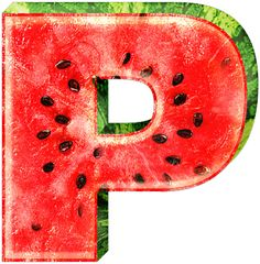 Letter P. Watermelon inspired. Alfabeto de sandía. | Oh my Alfabetos!