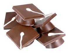 Mini Chocolate Graduation Caps. Available in milk, dark and white chocolate.