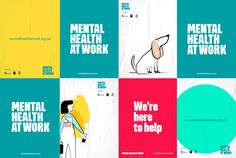 health poster Designing a website to promote better mental health in the workplace Mental Health At Work, Mental Health Posters, Mental Health Charities, Mental Health Problems, Uk Health, Health Logo, Charity Branding, Graphisches Design, Brand Design
