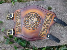Archery Arm Guard with Celtic Knotwork by BeltaneDesigns on Etsy
