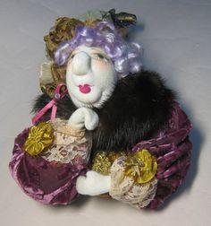 B Auntie Emm Handmade Art Doll  Breast