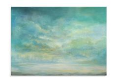 Mystical Horizon Painting Print on Canvas
