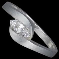 Silver ring, CZ, Silver ring, Ag 925/1000 - sterling silver. With stone (CZ - cubic zirconia). Design width approx. 7mm.