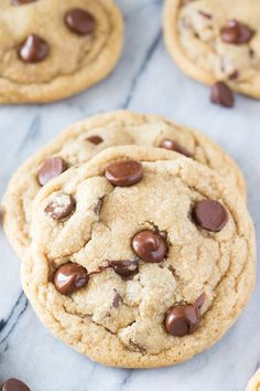Soft and Chewy Peanut Butter Chocolate Chip Cookies. These are so easy to make, full of big peanut butter flavor & just like a peanut butter cup!