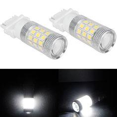 [US$18.35] 2pcs 3156 650LM 4.8W 2835SMD 36LED White Car Tail Reverse Turn Light Bulbs  #2835smd #2pcs #3156 #36led #650lm #bulbs #light #reverse #tail #turn #white