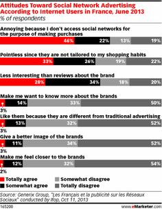 France's Web Users Say 'Non' to Social Media Ads - eMarketer