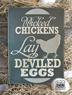 chicken name signs - Google Search