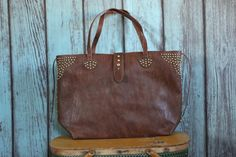 Rockaway Tote - Coffee - Saddles & Lace - Purses & Bags - 1