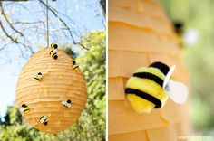 This darling bumblebee piñata is a DIY tutorial over at Country Living. Thanks Heather @ Chickabug blog