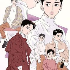 2019 Chanyeol birthday art by langmanpanda on FanBook Kaisoo, Kyungsoo, Chanyeol, Baekhyun Fanart, Exo Anime, Anime Guys, Anime Art, Exo Fan Art, Kpop Drawings