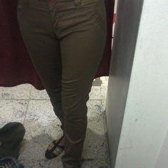 Pantalón en dos tonos de marrón 80p Carlos pellegrini 425 #lovechuca