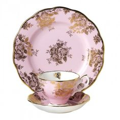 100 Years Of Royal Albert 1960 Golden Roses 3 Piece Set