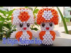 3D Origami Toad Mushroom Tutorial   Hormigón 3D Sapo de Origami de Mario tutorial - YouTube