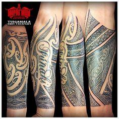 Steven's Tongan-Maori forearm tattoo