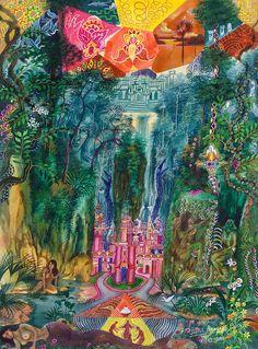 Pablo Amaringo Painting - Huarmi Taquina  by Pablo Amaringo
