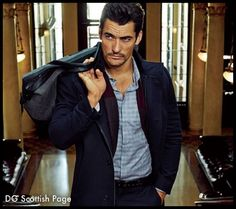 #DavidGandy for SELECTED and an iconic model for Marks and Spencer #2014 #Menswear .