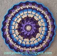 Dahlia Mandala pattern - this is awesome. Wish I'd used this as the inspiration for my craft stool cover!