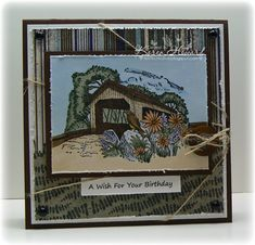 Changing Seasons by Feline Creative - Cards and Paper Crafts at Splitcoaststampers Man Birthday, Birthday Cards, Fall Cards, Card Tutorials, Covered Bridges, Copics, Stamping Up, Creative Cards, Small Gifts