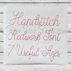 Vintage Handstitch Font |  fivestarfonts.com
