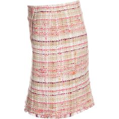 Thomas Rath Fine Checked Cotton Blend Skirt ($205) ❤ liked on Polyvore
