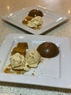 This dessert is sure to impress, the filled chocolate dome and peanut butter ice cream is a delicious combination, not mention serving with crumbed and cubes of honey comb.. The recipe makes enough for 5 domes and a 1.5 liter tub of ice cream (so there is plenty of ice cream for seconds) Chocolate Dome, Peanut Butter Ice Cream, Icebox Cake, Thing 1, Fresh Cream, Vanilla Essence, Trifle, Custard, Pudding
