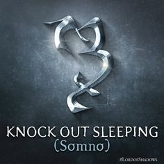 The rune for Knock Out Sleeping! What would you use this for? (@ShadowhunterBks) | Twitter