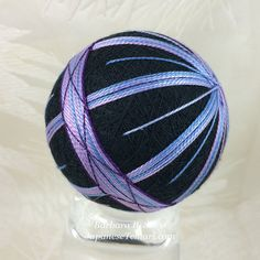 Quiet Peace Two fiber art temari for sale by by JapaneseTemari