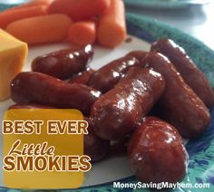 Best Ever Little Smokies #Recipe! Throw all of the ingredients in the slow cooker and enjoy!