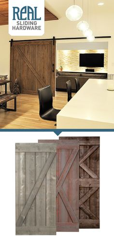 Whether you're going for a modern, industrial, rustic, or traditional space, Real Sliding Hardware's Weathered Sliding Barn Door is a perfect fit. With 3 shades and a variety of sizes to choose from, this door will help make your house a home for many years to come.