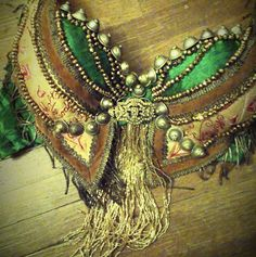 Rserved The Verte  Uniting Ages III Tribal Fusion Bra Art Deco bellydance RESERVED FOR Jillian..Dont buy otherwise..please