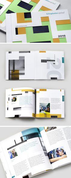 Architektur wird zur Basis des visuellen Konzepts des Jahresberichts  #jahresbericht #design #spital #designersfactory #germandesignaward
