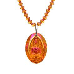 Inner Peace Buddha Swarovski Necklace #swarovski