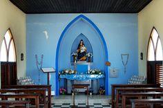 Inside the Alto Vista chapel
