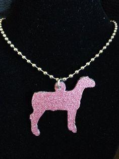 Glitter Finish Show Lamb Necklace **MORE COLORS**