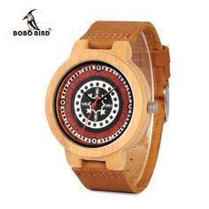 BOBO BIRD WJ11J12J13J14 Bamboo Wood Watch for Women UV Priting Dial Face Soft Leather Band Quartz Mens Watches Top Luxury OEM #Affiliate