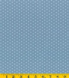 Gertie Collection Fabrics-Chambray Mint Dots