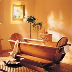 Wooden tub.  I love this!