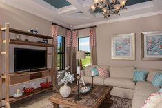 Gather together in comfort with #TaylorMorrison #homes.  #livingroom #interiordesign #floridaliving #naples