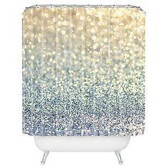 DENY Designs Lisa Argyropoulos Snowfall Shower Curtain in Silver
