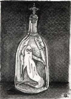 Ghost in a Jar Graphite Drawing by Jayde Hilliard. www.jaydehilliard.com